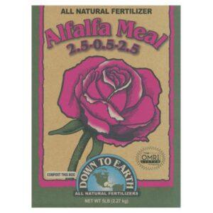 Down To Earth™ Alfalfa Meal 2.5 – 0.5 – 2.5 – 5lb