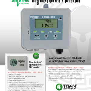 Titan Controls® Spartan Series® CO2 Controller/Monitor