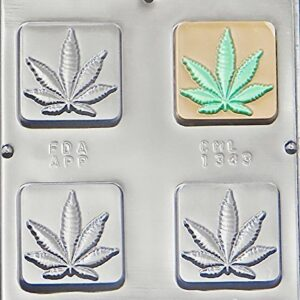 Candy Mold Bar/Brownie/Treat Cannabis Leaf P