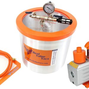 Best Value Vacs 3 Gallon Aluminum Vacuum Chamber and 3CFM Vacuum Pump Kit