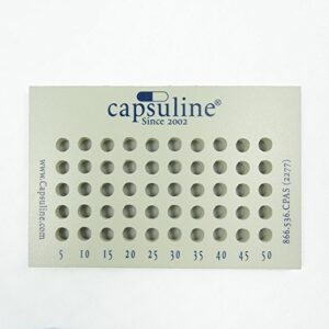 Capsule Holding Filling Tray