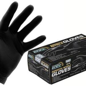 Grower's Edge Black Powder-Free Nitrile Gloves 6 mil
