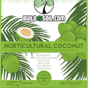 buildasoil Coconut Water Powder – Raw Freeze Dried Organic 1/2lb