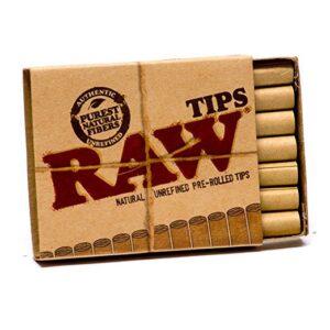 Raw Natural Unrefined Pre-Rolled Filter Tips ( 21 Per Box )