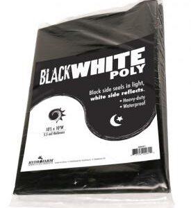 Black White Poly, 10′ x 25′, 5.5 mil
