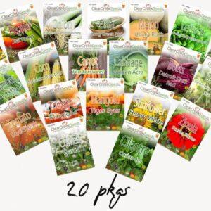 Heirloom seed packs